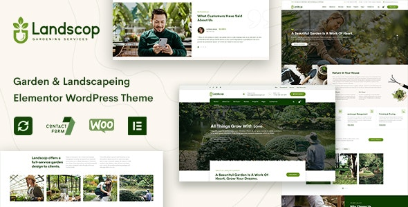 Landscop - Garden & Landscaping WordPress Theme - WordPress