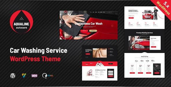 Aqualine - Car Washing Service WordPress Theme - Corporate WordPress
