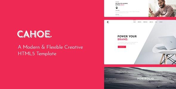 Cahoe - Creative Portfolio HTML Template - Creative Site Templates