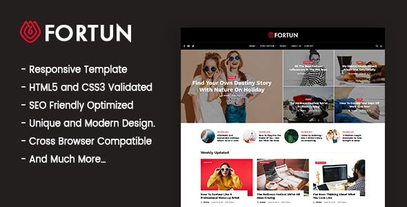 Fortun - Blog & Magazine HTML5 Template