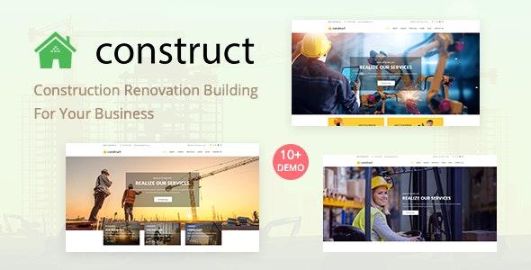 Construct - Construction WordPress Theme - Business Corporate