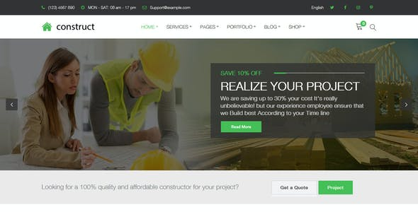Construct - Construction WordPress Theme