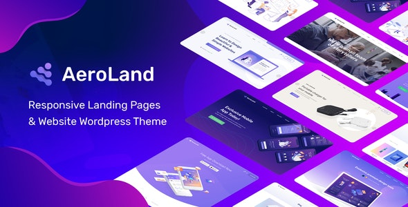 AeroLand - App Landing Software Website WordPress Theme - Software Technology