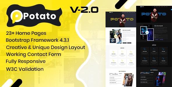 Potato - Personal Portfolio Template - Portfolio Creative
