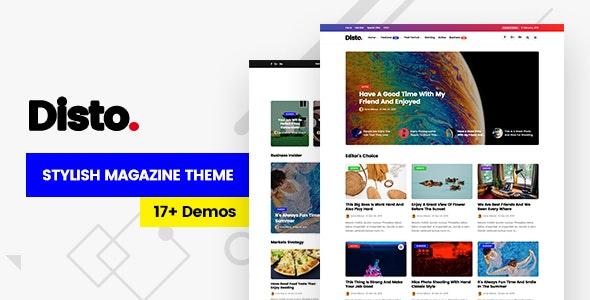 Disto - WordPress Blog Magazine Theme - Personal Blog / Magazine