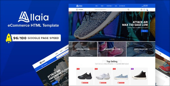 Allaia - eCommerce HTML Template - Shopping Retail