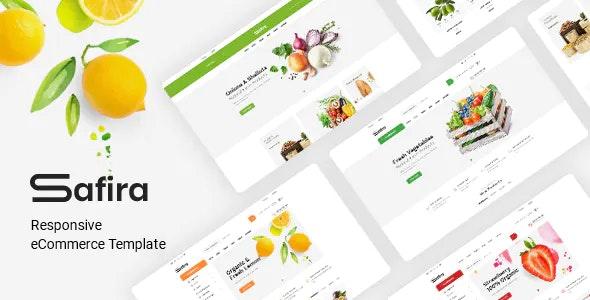 Safira Organic food HTML Template