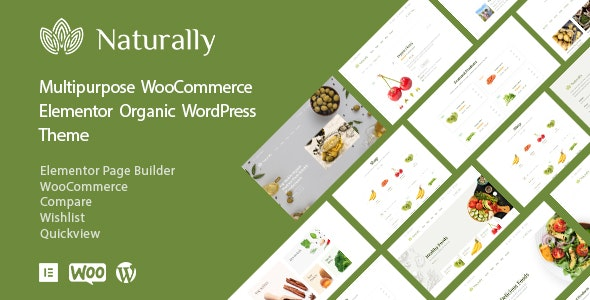 Naturally - Organic Food Elementor WooCommerce Theme - WooCommerce eCommerce