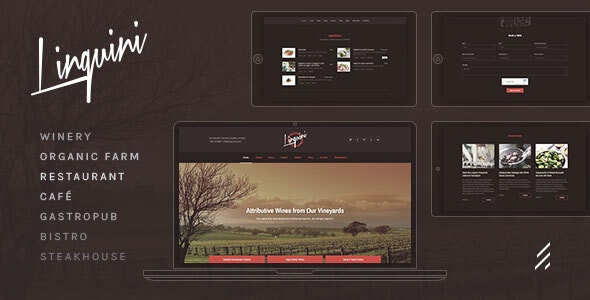 Linguini — Restaurant WordPress Theme - Restaurants & Cafes Entertainment