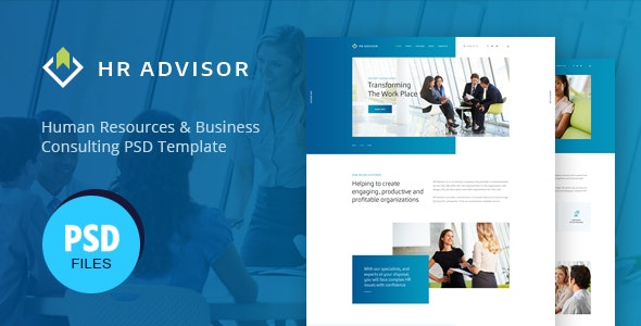 HR Advisor | Human Resources & Business Consulting PSD Template - Business Corporate