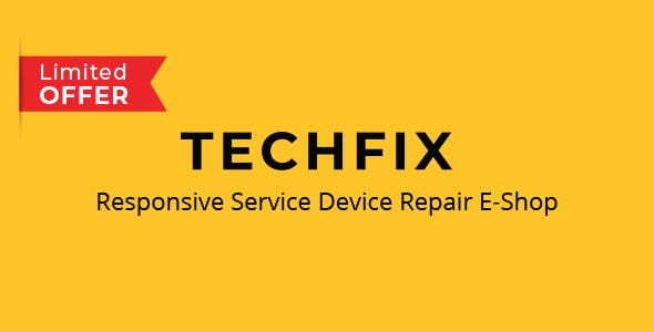 TechFix - Responsive Service Device Repair E-Shop Template