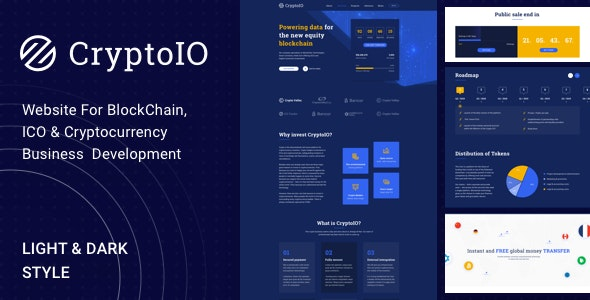CryptoIO - Cryptocurrency WordPress Theme - Corporate WordPress