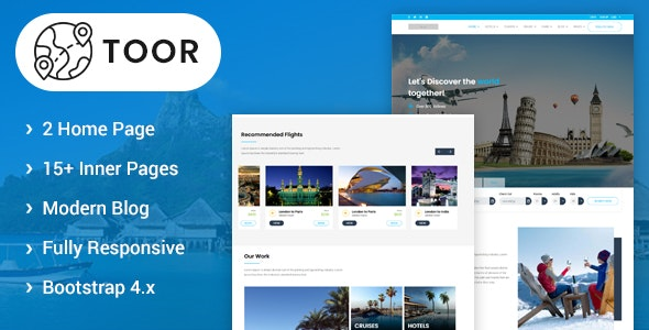 Toor - Travel Booking HTML5 Template - Travel Retail