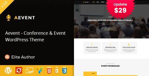 Aevent - Conference & Event WordPress Theme - Events Entertainment