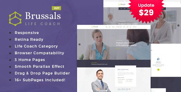 Brussals - Personal Development Coach WordPress Theme