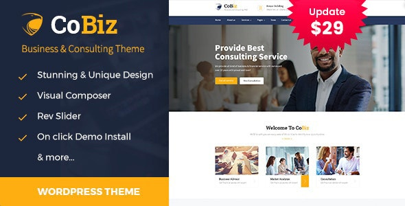 Cobiz -Business Consulting and Professional Services WordPress Theme - Business Corporate