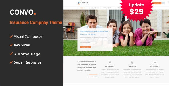 Convo - WP Theme for Business And Insurance - Business Corporate