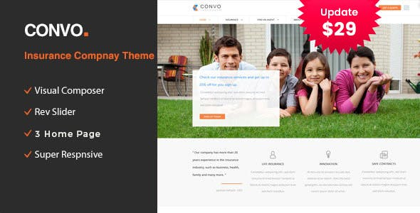 Convo - WP Theme for Business And Insurance