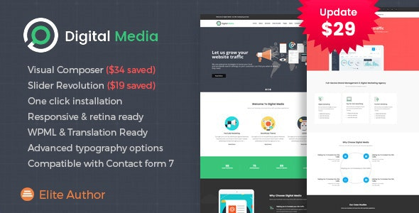Digital Media - Online Marketing WordPress theme - Marketing Corporate