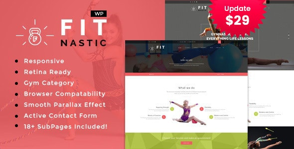 Fitnastic | Gym & Fitness WordPress Theme - Health & Beauty Retail