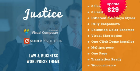 JUSTICE - Law & Business WordPress Theme - Business Corporate