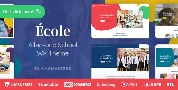 Download Ecole - Education & School WordPress Theme