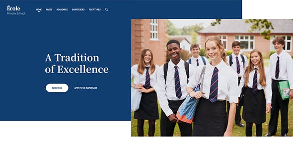 Ecole - Education & School WordPress Theme