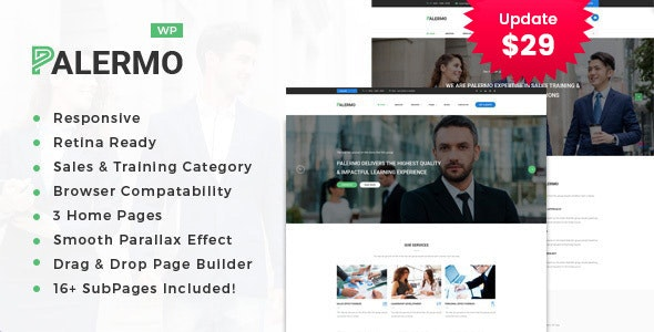 Palermo - Business Consulting and Professional Services WordPress Theme - Business Corporate