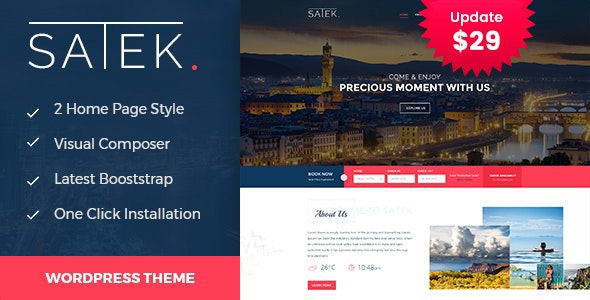 Satek : Resort and Hotel WordPress Theme - Travel Retail