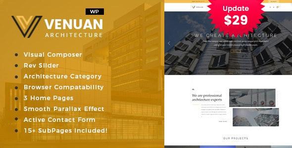 Venuan - Architecture Design WordPress Theme - Business Corporate