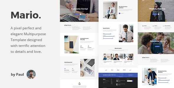 Mario. - Creative Agency HTML Template - Creative Site Templates