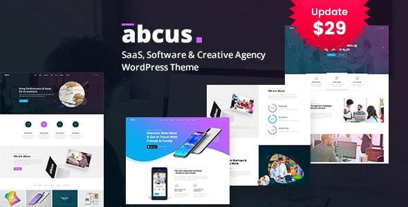 Abcus - App & SaaS Startup WordPress Theme - Portfolio Creative
