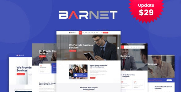 Barnet- Business Consulting WordPress Theme - Business Corporate
