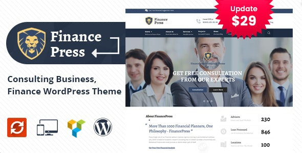 Finance Press - Consulting Business WordPress Theme - Business Corporate