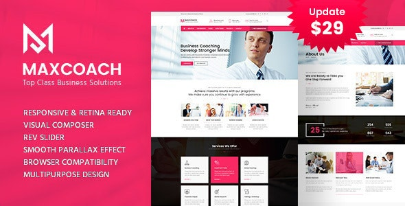 Maxcoach - Business Consulting WordPress Theme - Business Corporate
