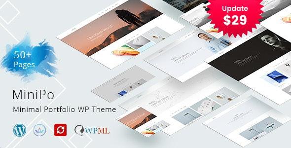 MiniPo - Multipurpose Minimal Portfolio WordPress Theme - Portfolio Creative