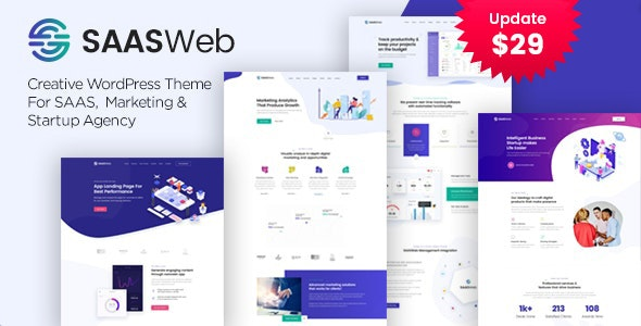 Saasweb Theme Preview