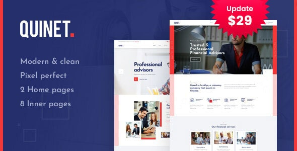 Quinet - Business Consulting WordPress Theme - Business Corporate