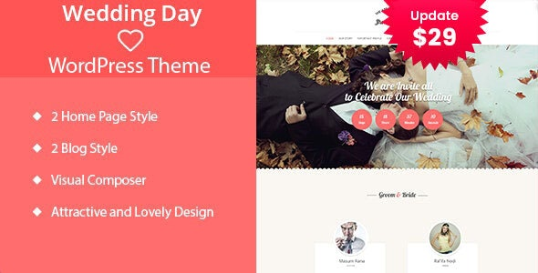 Wedding Day - WordPress Theme - Wedding WordPress