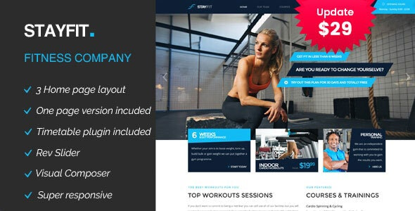 Stayfit | Gym & Fitness WP Theme - Health & Beauty Retail