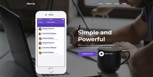 Morris -  App & Product Landing Page