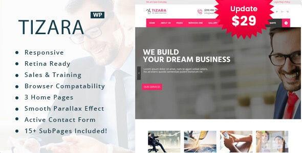 Tizara - Business Consulting WordPress Theme - Business Corporate