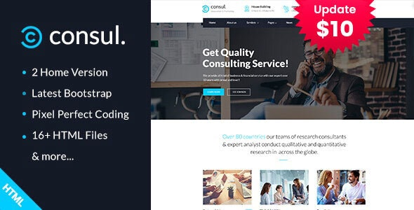 Consul - Business Consulting Services HTML Template - Business Corporate