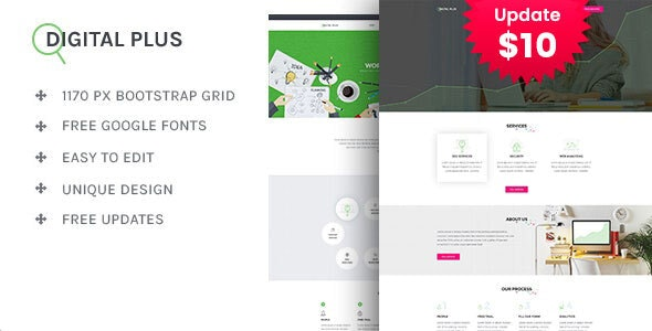 Digital Plus - SEO/Marketing HTML5 Template - Portfolio Creative