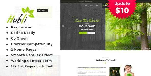 Hubli - Environment / Non-Profit HTML Template - Environmental Nonprofit