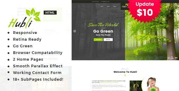 Hubli - Environment / Non-Profit HTML Template