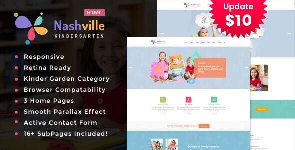Nashville - Kindergarten & School HTML Template - Children Retail