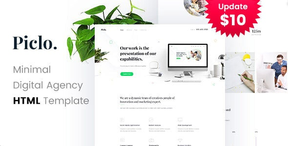 Piclo. - Minimal Digital Agency HTML Template - Portfolio Creative