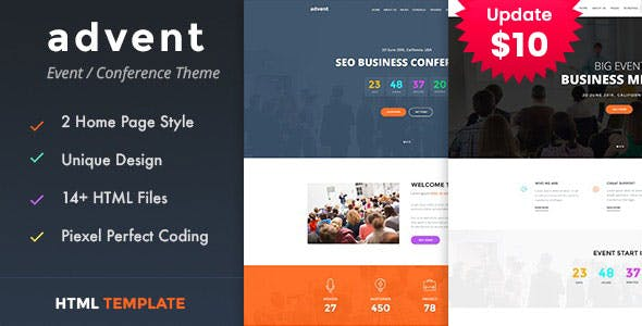 Advent - Conference & Event HTML Template