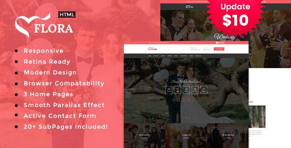 Flora - Responsive HTML Wedding Template - Wedding Site Templates
